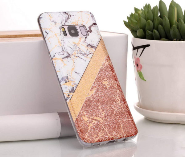 Θήκη Glitter Powder Marble Gold - Galaxy S8