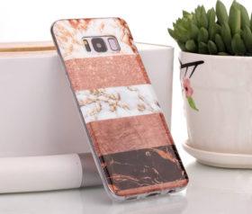 Θήκη Glitter Powder Marble Bronze - Galaxy S8