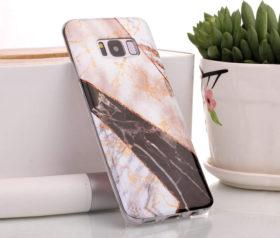 Θήκη Glitter Powder Marble Black - Galaxy S8