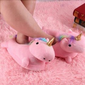 Unicorn Ροζ Παντόφλες One Size 35-44