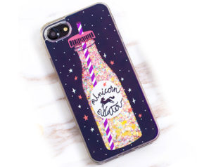 Θήκη Unicorn Water Glitter Black - iPhone 6/ iPhone 6s