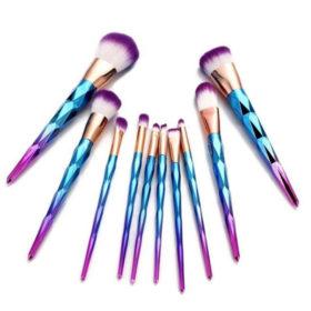 Σετ 10 Πινέλα Μακιγιάζ Diamond Blue - Purple