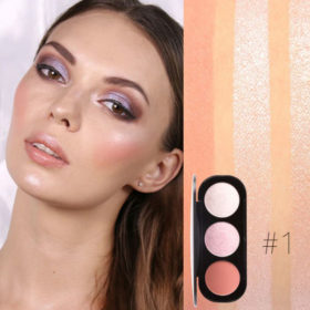 Blush & Highlighter 1# Focallure - Παλέτα 3 σε 1