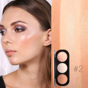 Blush & Highlighter 2# Focallure - Παλέτα 3 σε 1