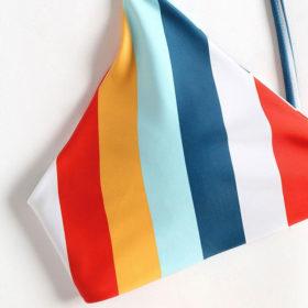 Μαγιό Μπικίνι Rainbow με Ρυθμιζόμενες Τιράντες