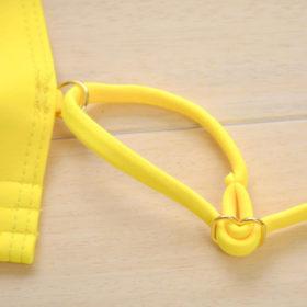 Μαγιό Sexy Yellow με Ρυθμιζόμενες Τιράντες