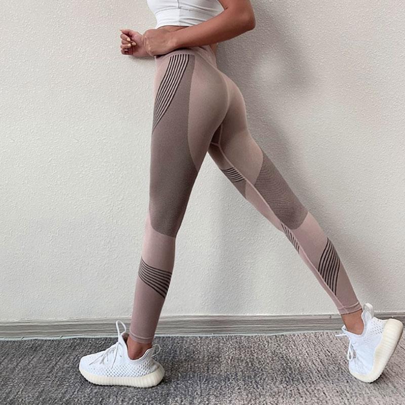 Αθλητικό Κολάν Ψηλόμεσο για Yoga Pale Pink