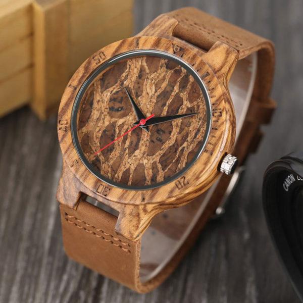 Ρολόι Bamboo Forester με Καφέ Δερμάτινο Λουράκι 2