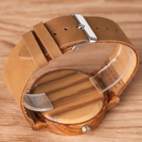 Ρολόι Bamboo Running Horse με Leather Strap