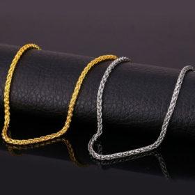 Chain Αλυσίδα U7 3mm - Ανοξείδωτο Ατσάλι / Gold