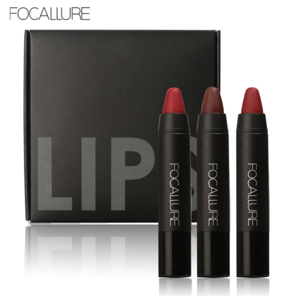 Lips Kit Focallure #1 - Set 3 Crayon