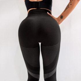 Αθλητικό Κολάν Ψηλόμεσο για Yoga Μαύρο - Small/Medium