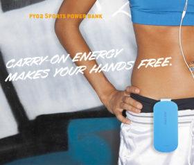 Αθλητικό Powerbank Μπλε με κλιπ – 3000mAh