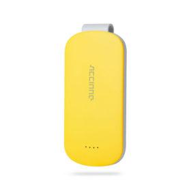 Αθλητικό Powerbank Κίτρινο με κλιπ – 3000mAh