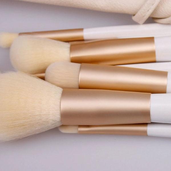 Σετ 10 Πινέλα Μακιγιάζ White + Δερμάτινη Κασετίνα