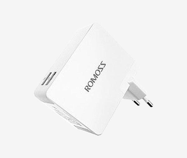 Φορτιστής Πρίζας USBx2 Ταχείας φόρτισης – ROMOSS