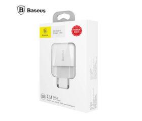 Φορτιστής Πρίζας USBx2 Θέσεων 5V 2.1A - Baseus