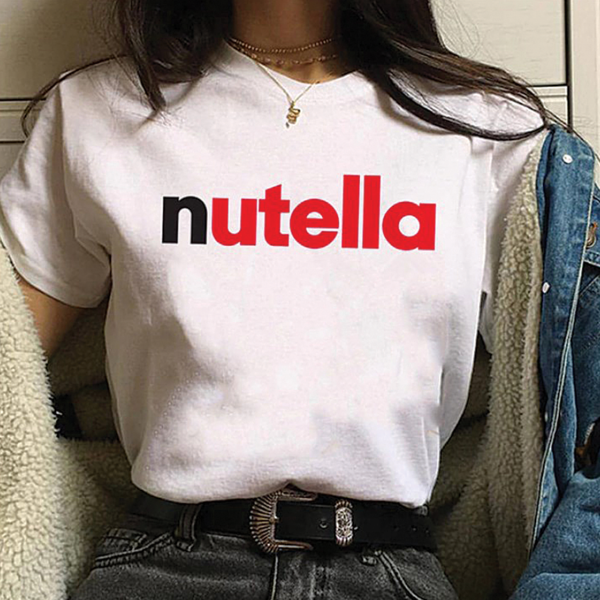 UpStyle T-Shirt Μπλουζάκι Nutella White - Medium