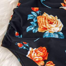 Μαγιό Ολόσωμο Sexy Black Floral - Paradise 2020