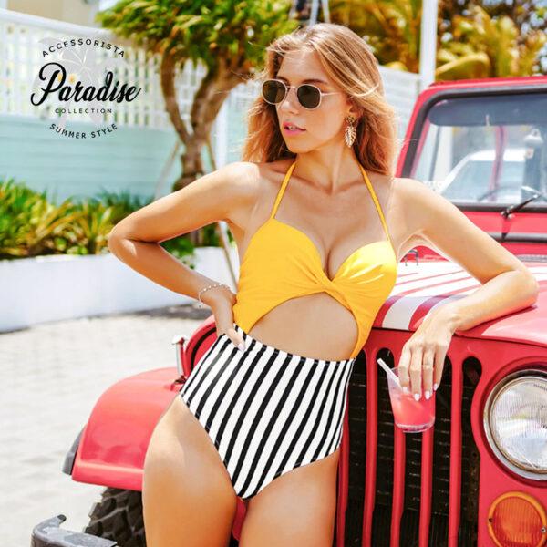 Μαγιό Ολόσωμο Sexy Vintage Yellow - Paradise 2020