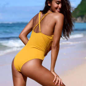 Μαγιό Ολόσωμο Sun με Bολάν & Ρυθμιζόμενες Τιράντες - Paradise 2020
