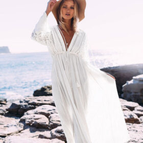 Cover-Up Καφτάνι Bohemian-V Μακρύ 2020 - One Size (05)