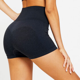 Yoga Set Αθλητικό Σορτσάκι Ψηλόμεσο & Μπουστάκι Black