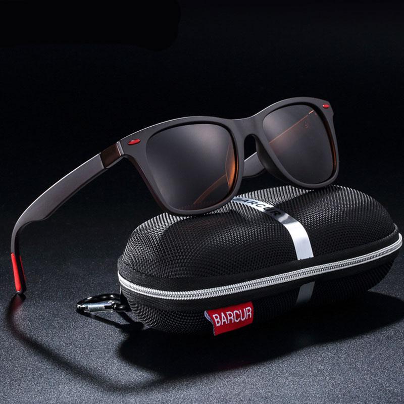 Γυαλιά Ηλίου Matte Black / Red Σκελετός & Black Φακός Polarized