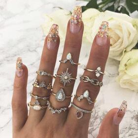 Σετ 12 Δαχτυλίδια Bohemian Crown Crystal Sun
