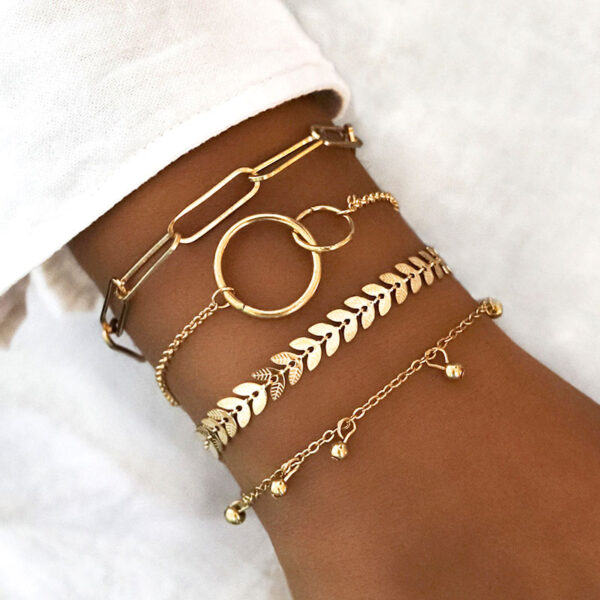 Σετ Βραχιολάκια Multilayer Bohemian Gold Simple