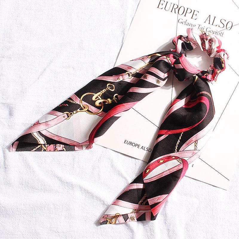 Μαντήλι Μαλλιών Rose/Black Retro Pattern