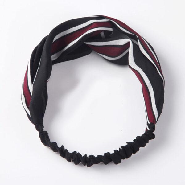 Μαντήλι Μαλλιών Headband Retro Black/Red