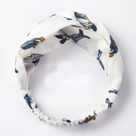 Μαντήλι Μαλλιών Headband Vintage White