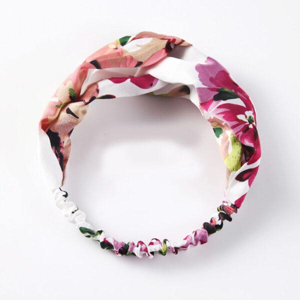 Μαντήλι Μαλλιών Headband White Floral Green
