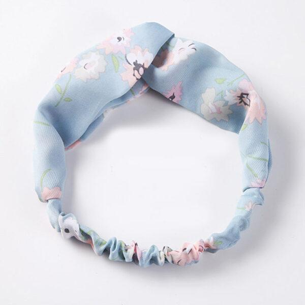 Μαντήλι Μαλλιών Headband Light Blue Floral