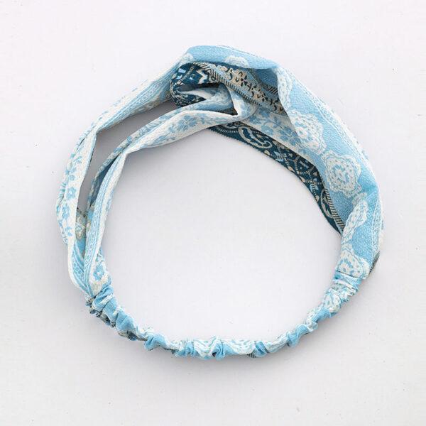 Μαντήλι Μαλλιών Headband Light Blue Retro