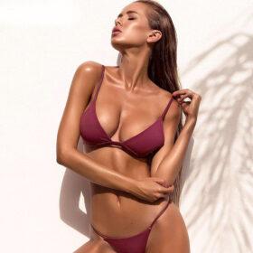 Μαγιό Sexy Purple με Ρυθμιζόμενες Τιράντες