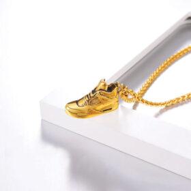 U7 Chain 3mm με Sneaker - Ανοξείδωτο Ατσάλι / 18KGP Gold – 50CM