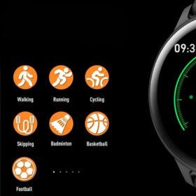 SmartWatch Fitness Silicone ITR-S19 Black