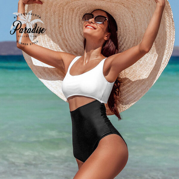 Μαγιό Ολόσωμο Sexy Vintage White/Black - Paradise 2020