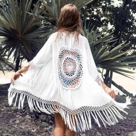 Cover-Up Bohemian Tassel Kimono 2020 - One Size (K30138)