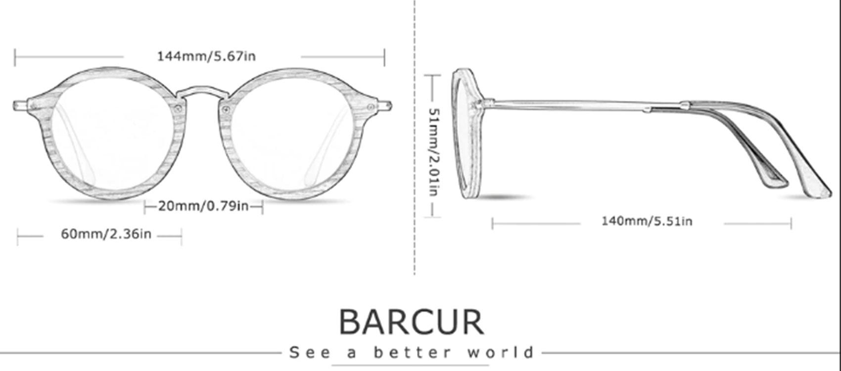 Γυαλιά Ηλίου Bamboo Vintage Round Zebrawood με Tea Polarized Φακό (7106)