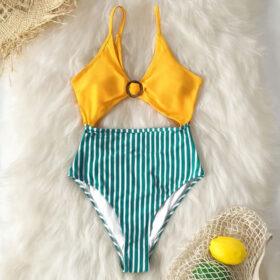 Μαγιό Ολόσωμο Sexy Vintage Yellow/Green – Paradise 2020