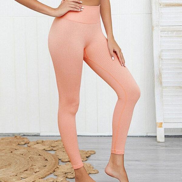 Yoga Αθλητικό Κολάν Ψηλόμεσο Coral Pink