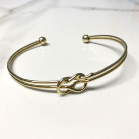 Χρυσό βραχιόλι Dual Vintage Knot