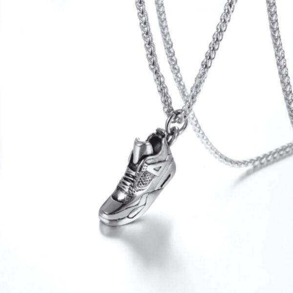 U7 Chain 3mm με Pendant Sneaker - Ανοξείδωτο Ατσάλι – 50CM
