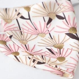 Μάσκα Πολλαπλών Χρήσεων Λευκό/Ροζ Floral - One Size