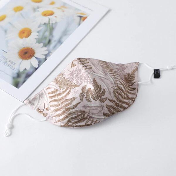 Μάσκα Πολλαπλών Χρήσεων Floral Rose/Gold - One Size