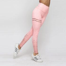 Αθλητικό Κολάν Ψηλόμεσο Metallic Splash για Yoga/Pilates Rose (A10)