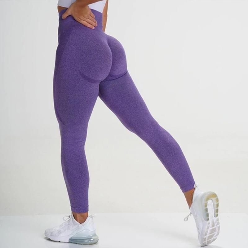 Αθλητικό Κολάν Ψηλόμεσο Workout για Yoga/Pilates Purple (A9165)